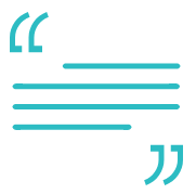 quote icon blue