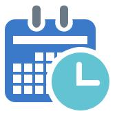 Schedule icon blue and light blue