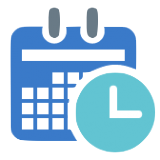 schedule icon blue