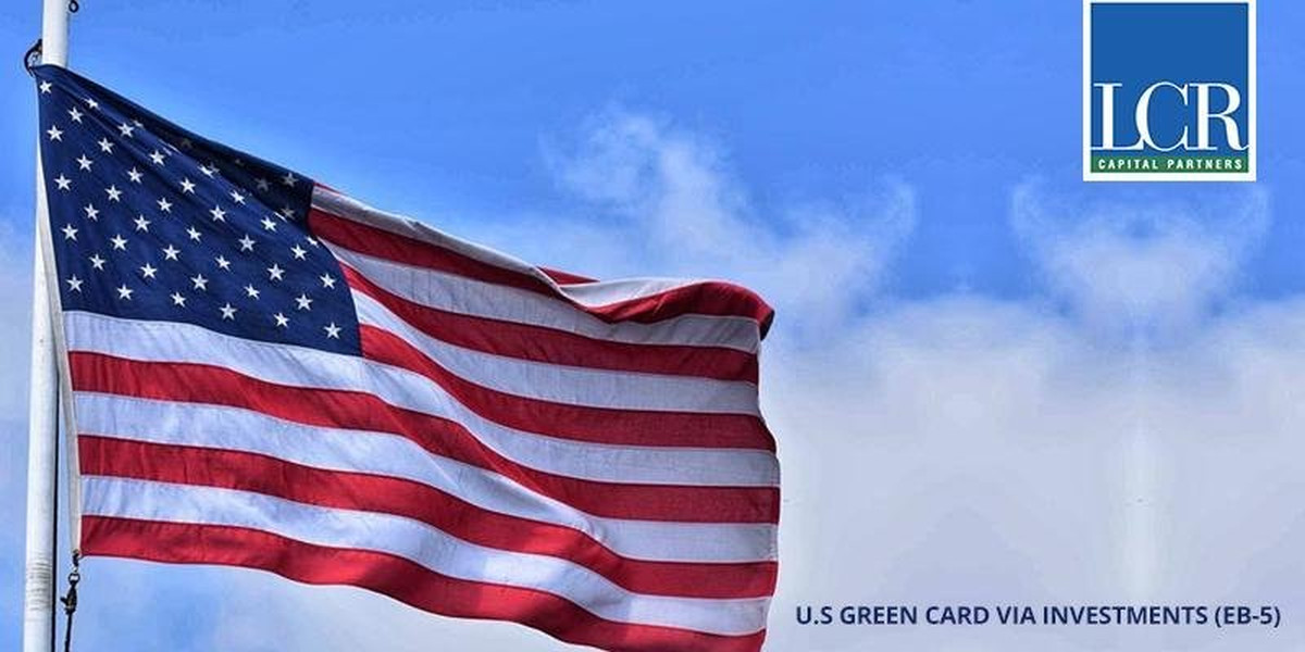 Waiving U.S. Flag with LCR Logo