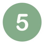 Icon number 5 green