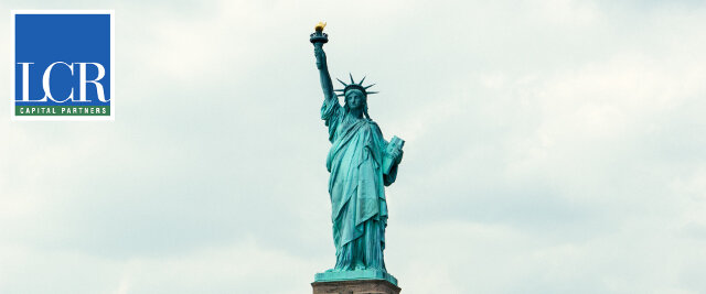 Statue of Liberty with LCR logo