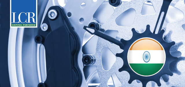 Clockwork with India flag