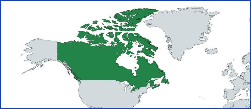 canada map green