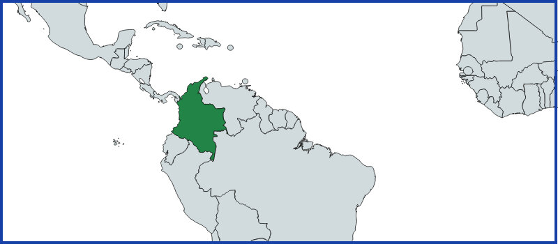 colombia map green