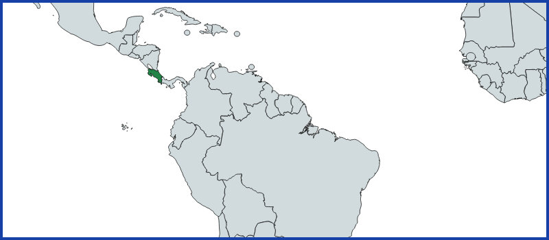 costa rica map green