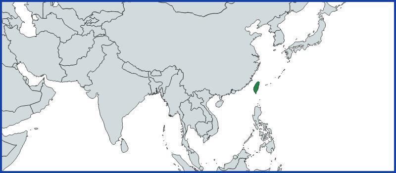 taiwan map green